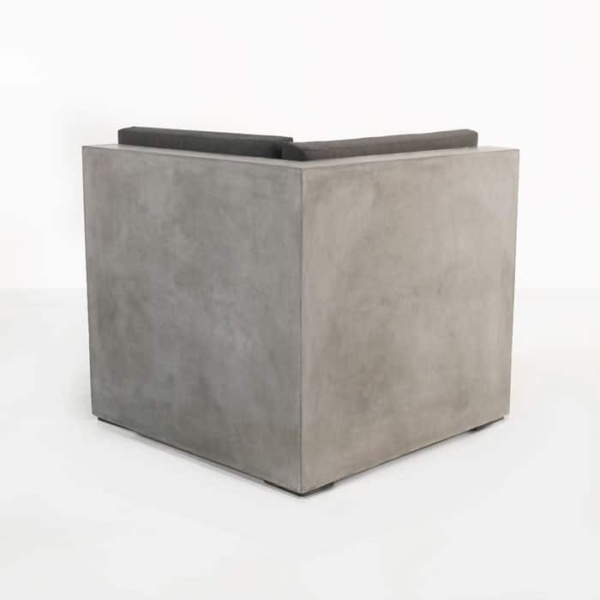 Box modern concrete sectional sofa corner chair