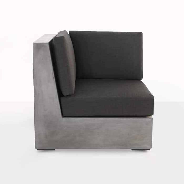 Box outdoor concrete sectional corner seat