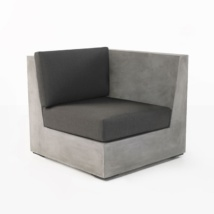 Box concrete sectiona sofa left end chair