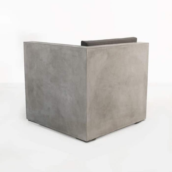 Box concrete outdoor chair back view