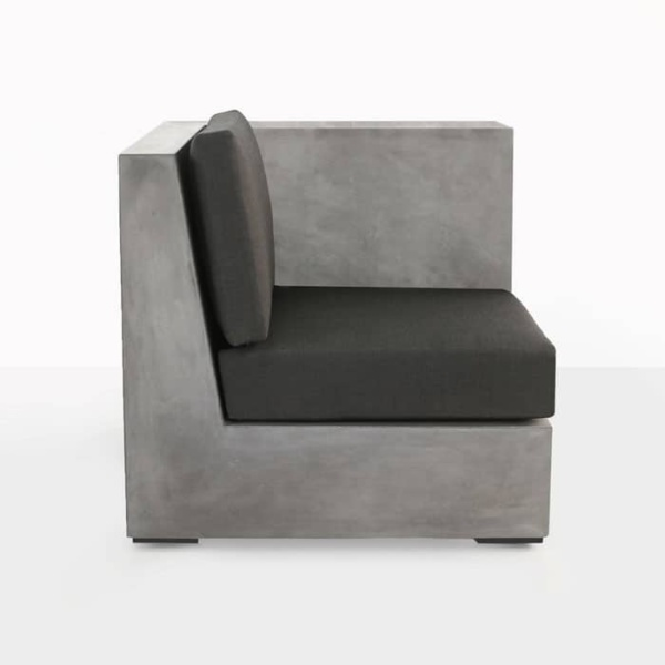 Box concrete sectional sofa with cushions