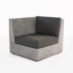 Box concrete sectional sofa right arm chair