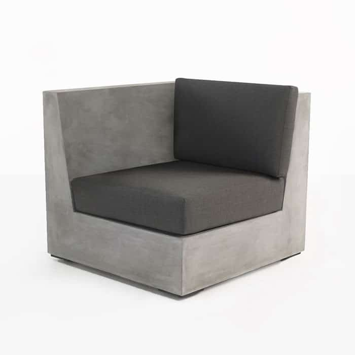 Box Concrete Right Arm Sectional Chair Deep Seating