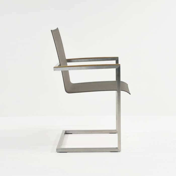 bruno batyline® mesh and stainless steel dining chair