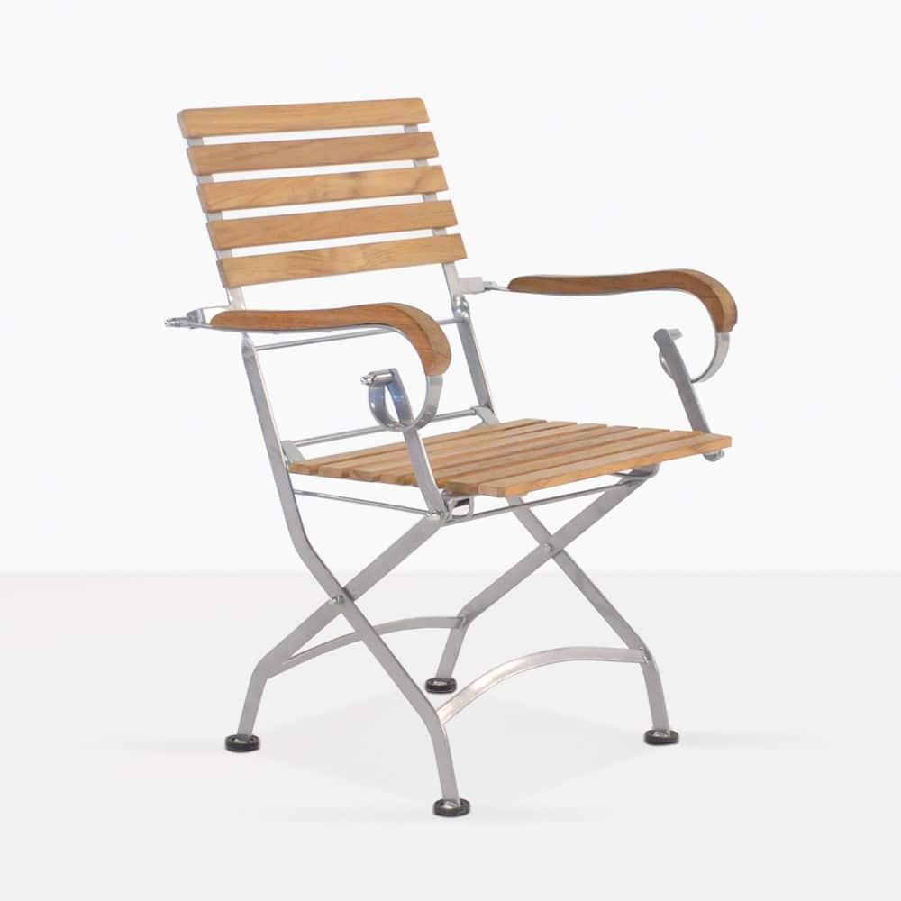 Caf 233 Teak Folding Dining Arm Chair Design Warehouse Nz