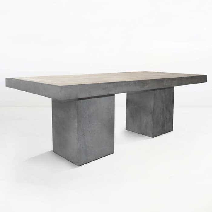 Blok Rectangle Concrete Dining Tables angle view