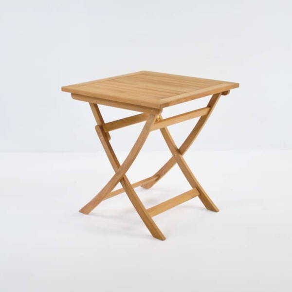 Square Teak Folding Table 70cm front