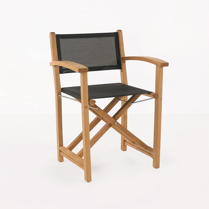 Cannes director's chair black angled