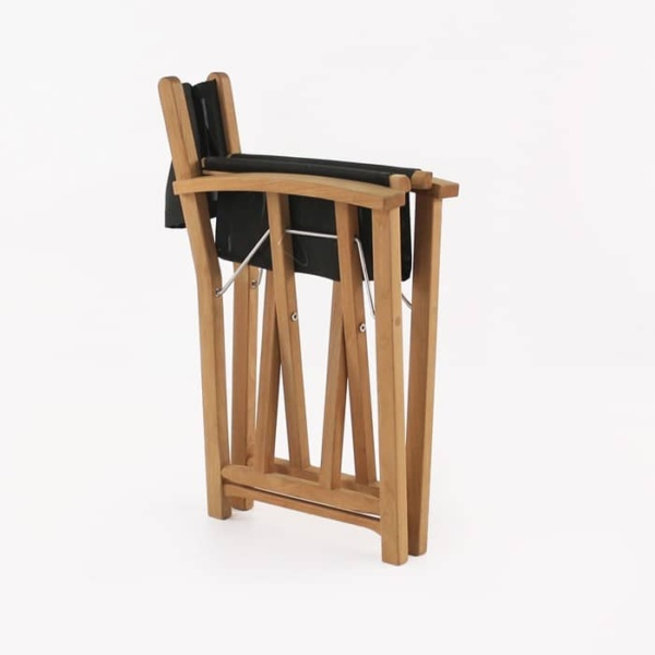 Cannes director's chair black folded