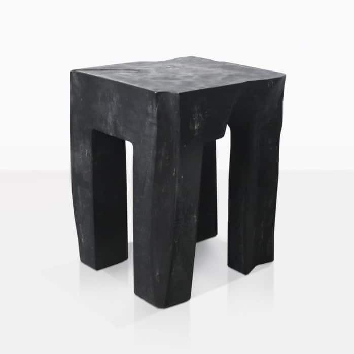 teak root accent table black
