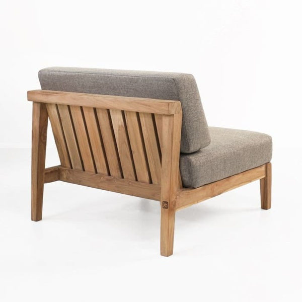 Copenhague Reclaimed teak center chair back view