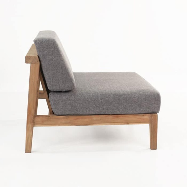 Copenhague Reclaimed teak center chair side view