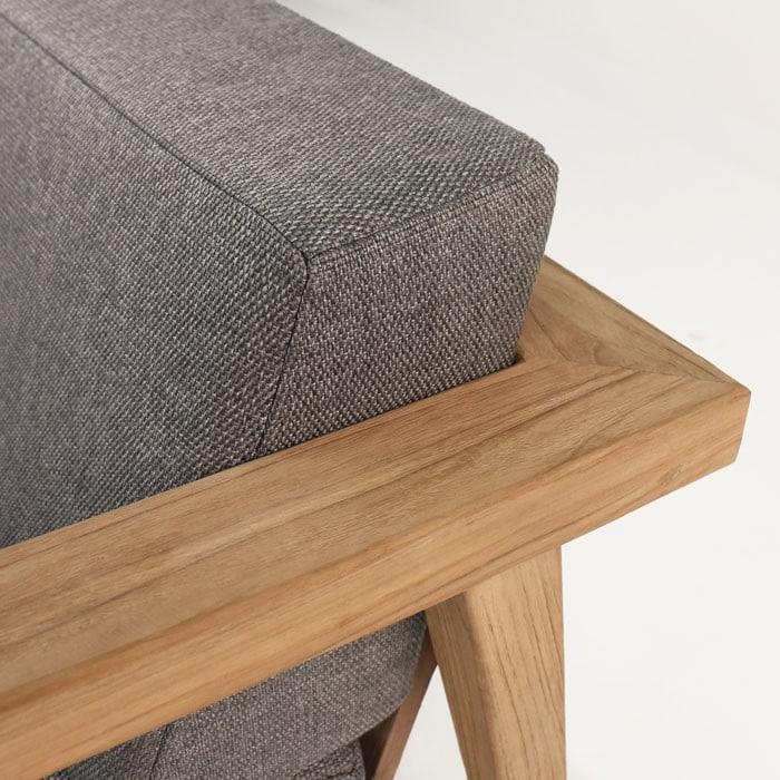 Copenhague reclaimed teak chair close up