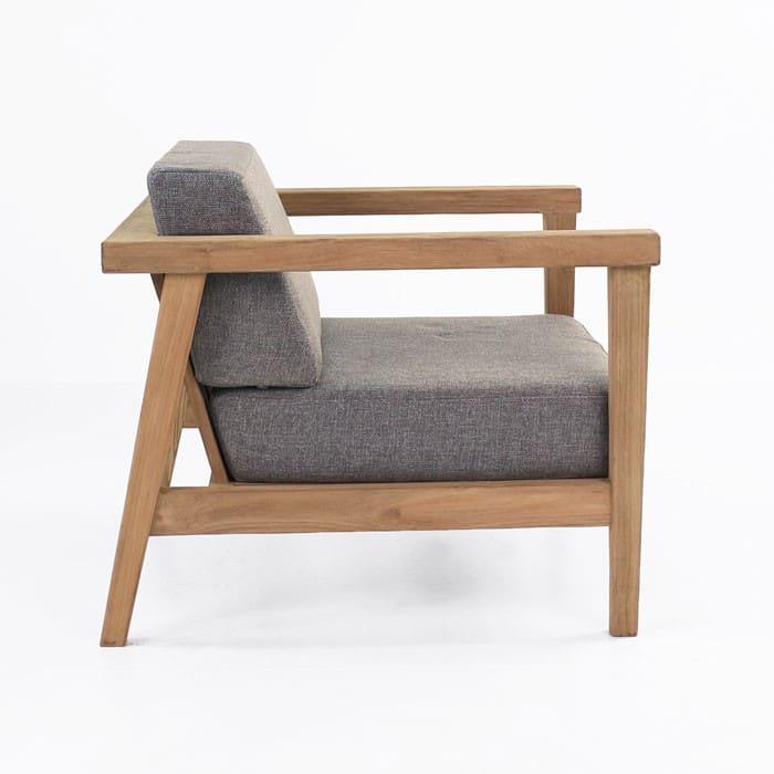 Copenhague reclaimed teak chair side view