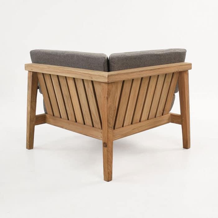 Copenhague reclaimed teak corner chair back view