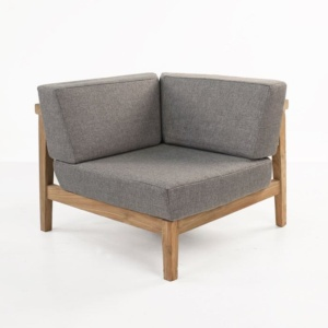 Copenhague reclaimed teak corner chair