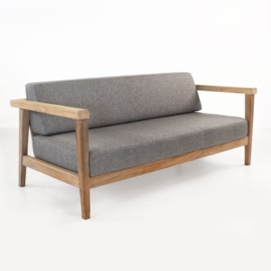 Copenhague reclaimed teak loveseat