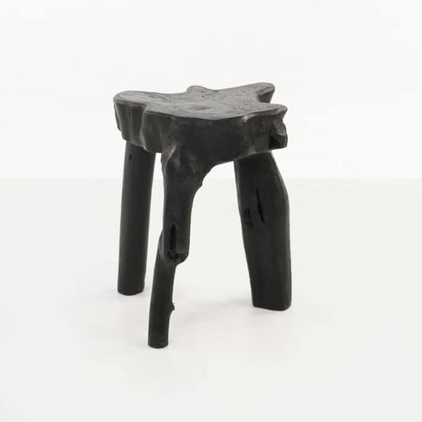 Cumi black teak root side table