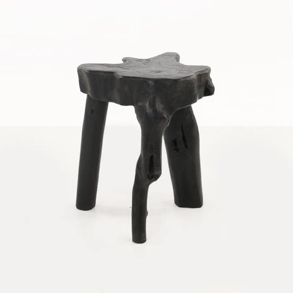 Cumi black teak root accent table