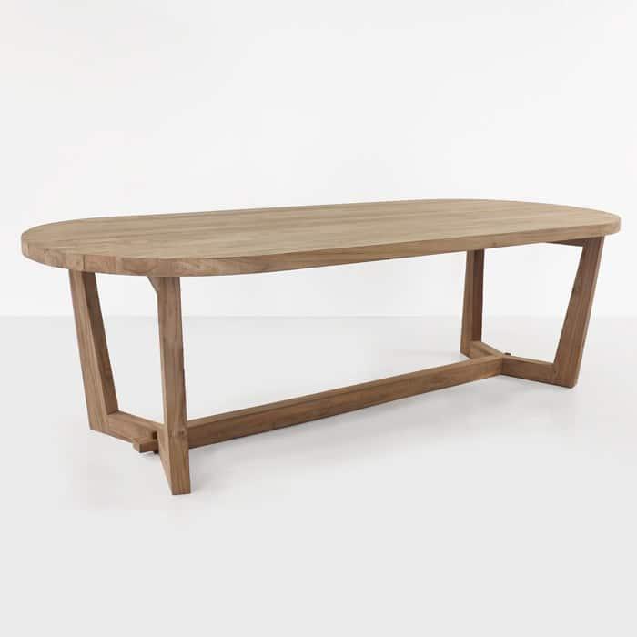 Danielle reclaimed teak oval dining table