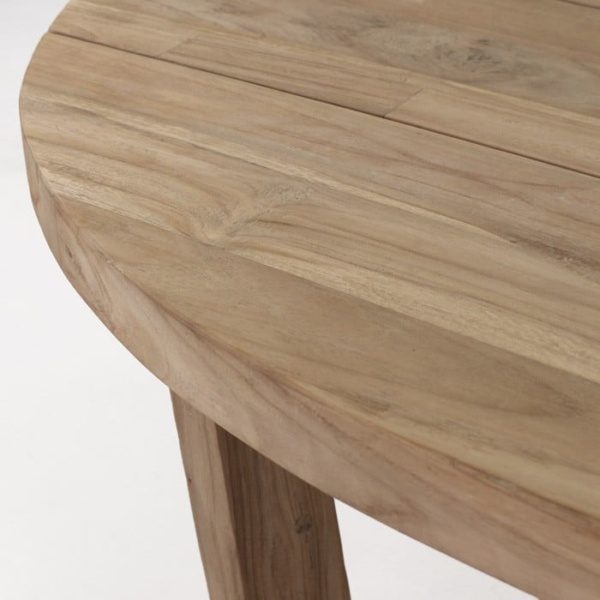 Danielle reclaimed teak oval table top