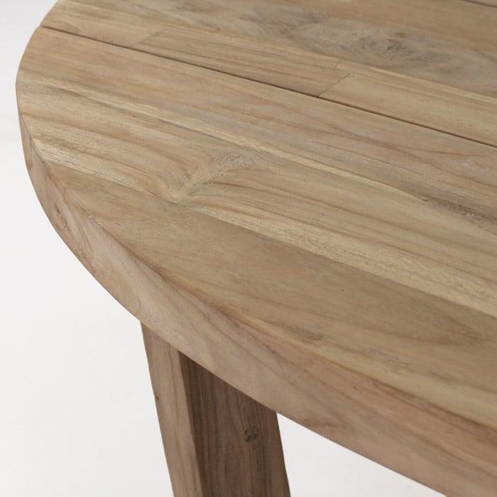 Danielle reclaimed teak oval table top