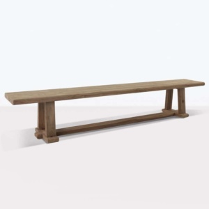 Joseph reclaimed teak backless bench angle