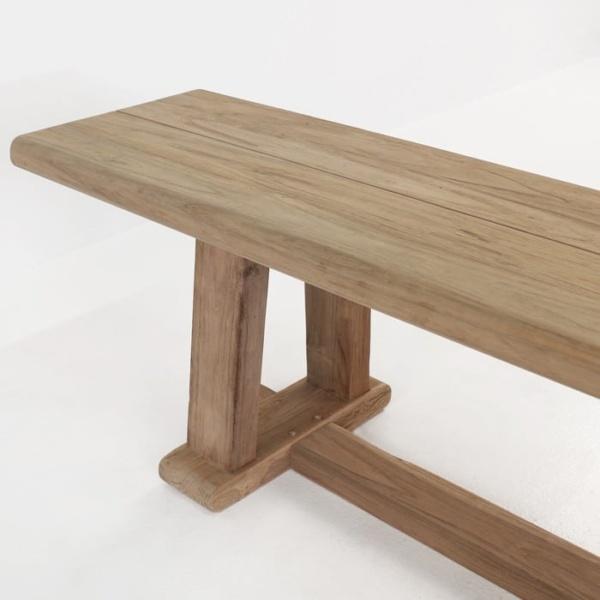 Joseph reclaimed teak backless bench corner