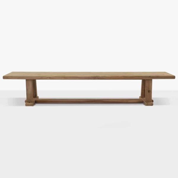 Joseph reclaimed teak backless bench straight