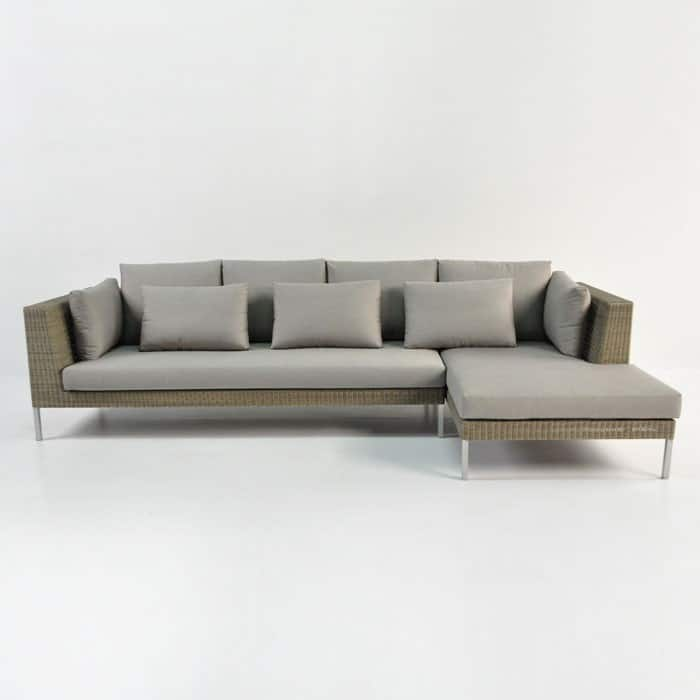 Madison Outdoor Wicker Furniture Combo in stonewash