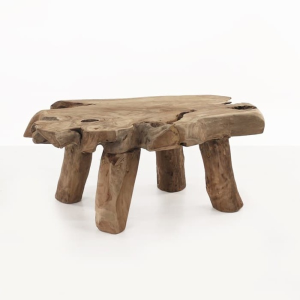 Nature reclaimed teak coffee table