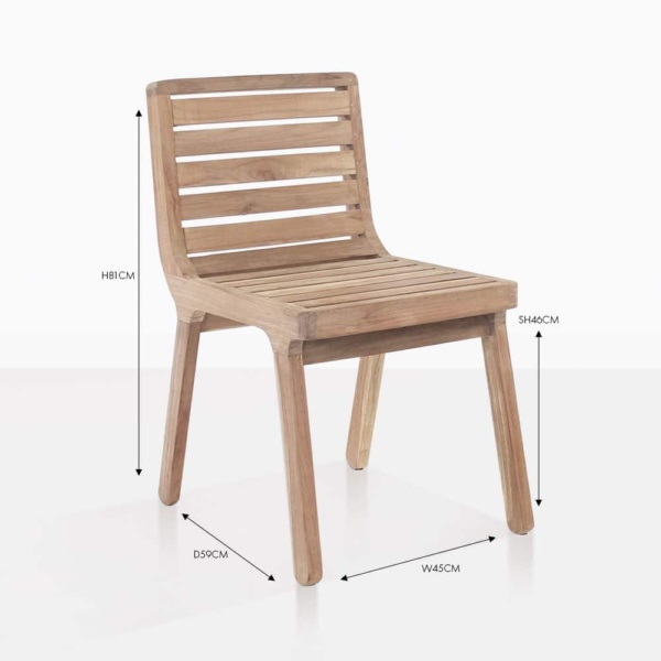 Oslo reclaimed teak side dining chair