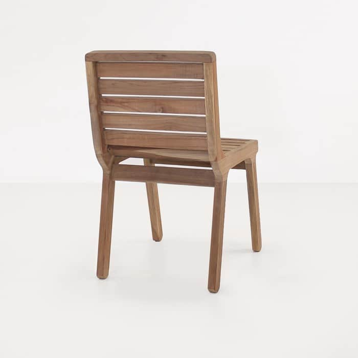 Oslo reclaimed teak dining chair back view