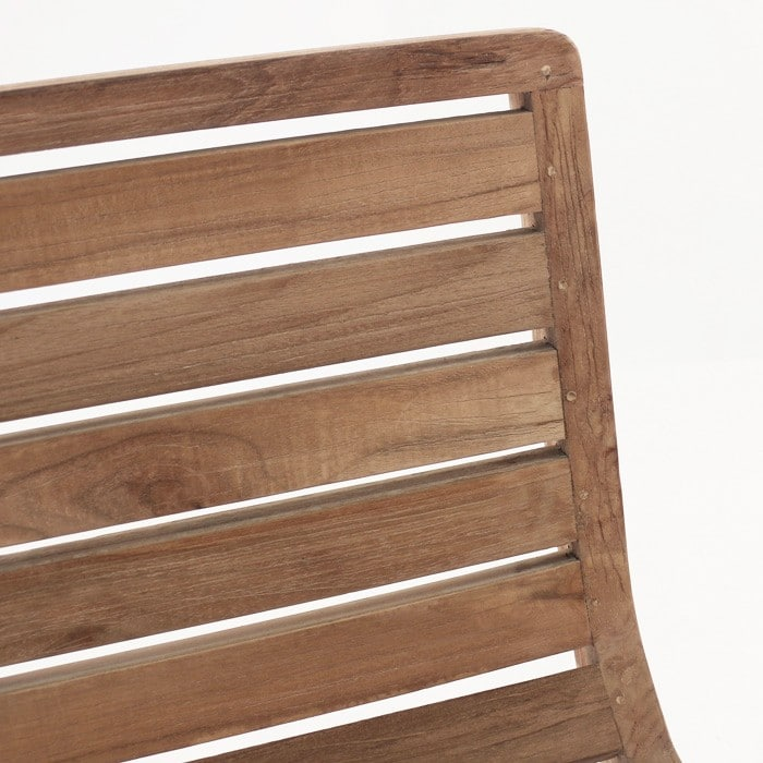 Oslo reclaimed teak dining chair close up
