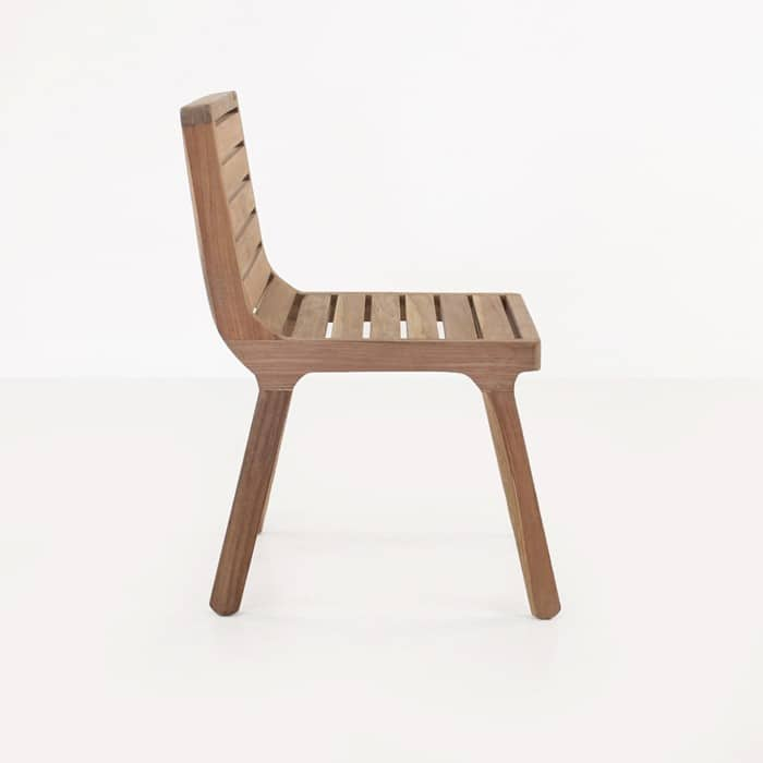 Oslo reclaimed teak dining chair side view