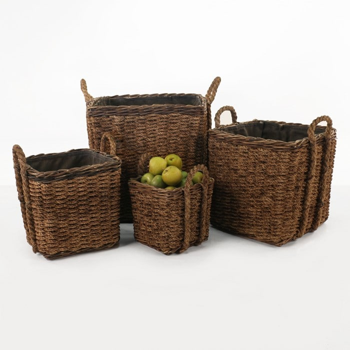 four square rope baskets