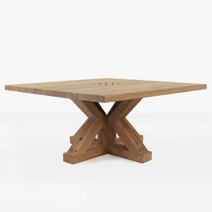 Alex reclaimed teak dining table angle view