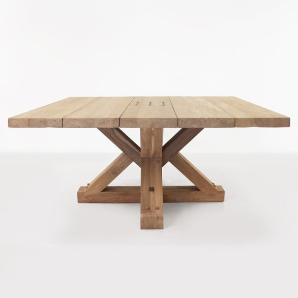 alex reclaimed teak square outdoor dining table design warehouse nz. Black Bedroom Furniture Sets. Home Design Ideas