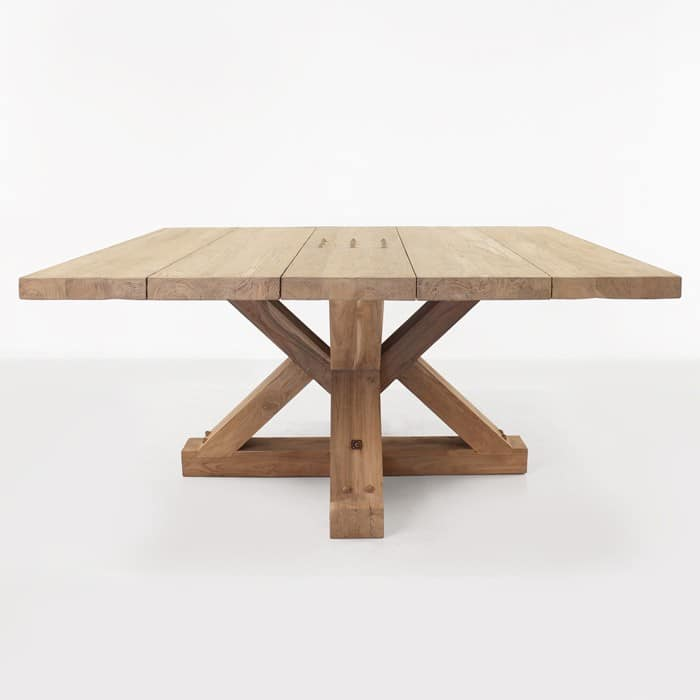 Alex reclaimed teak outdoor dining table