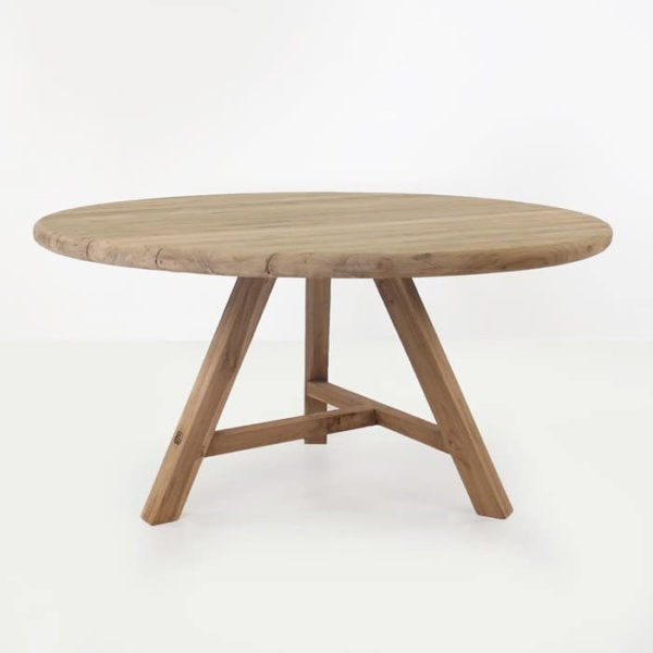 Toni reclaimed teak dining table round