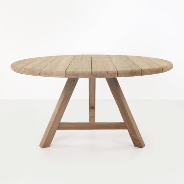 Toni Reclaimed Teak Round Outdoor Dining Table Design  : toni table side 586x586 from designwarehouse.co.nz size 586 x 586 jpeg 37kB
