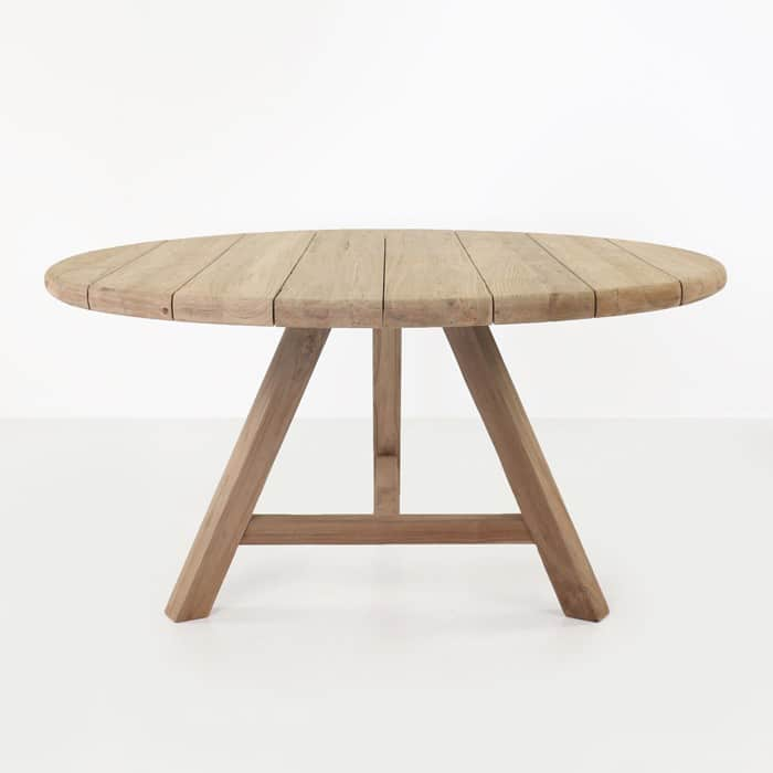 Toni Reclaimed Teak Round Outdoor Dining Table ...