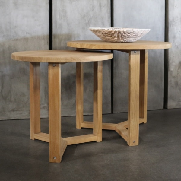 ying teak accent table