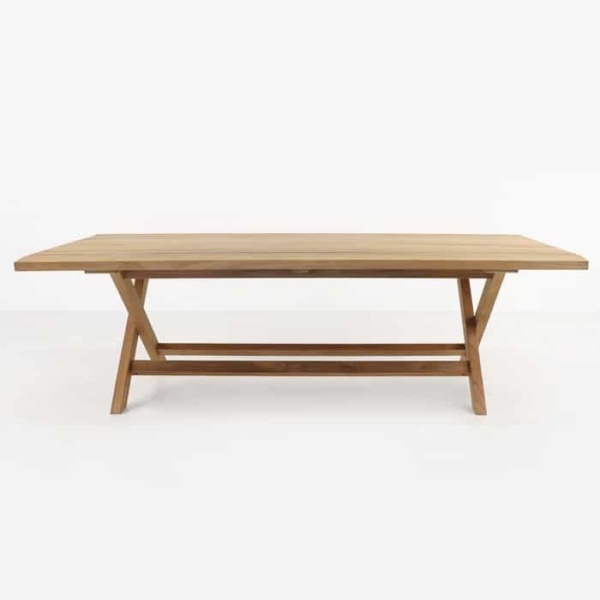 Artisan a-grade teak dining table side view