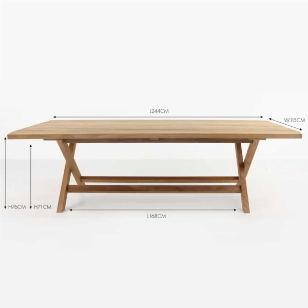 artisan teak outdoor dining table