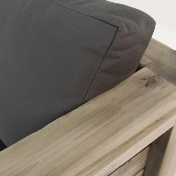 Lodge distressed reclaimed teak sofa