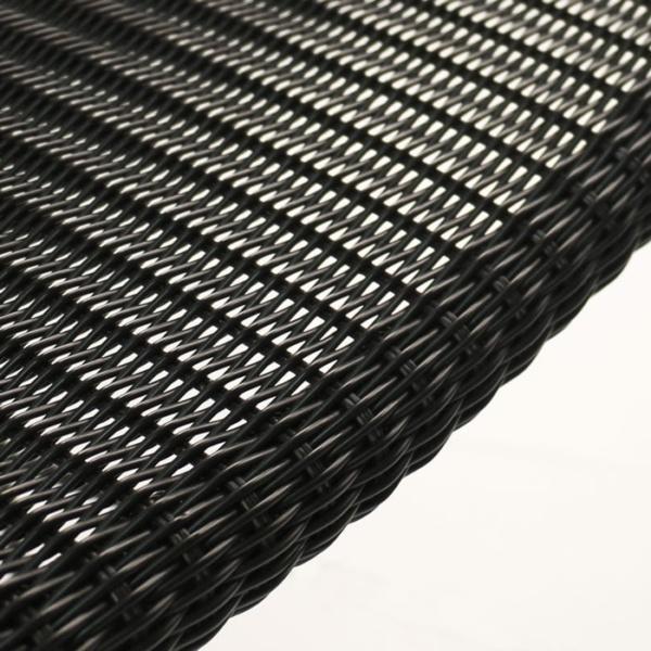 Pietro Wicker Bar Chair Black closeup image