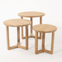 Ying three A-grade teak accent tables