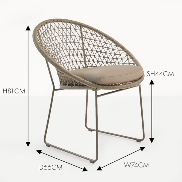 natalie rope dining chair woven