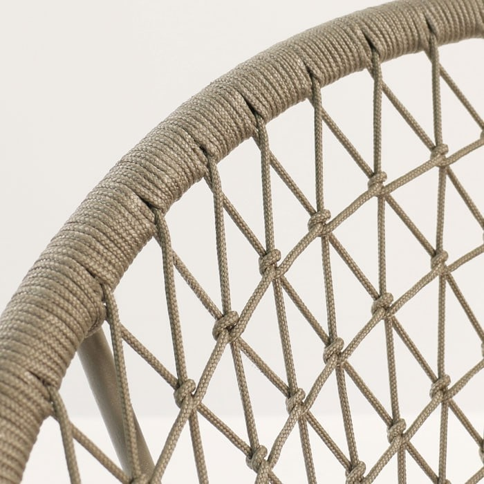 Natalie Outdoor rope woven chair closeup